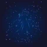Virgo zodiac whith glitter star Royalty Free Stock Images