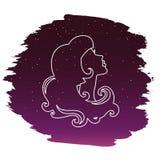 Virgo zodiak również zwrócić corel ilustracji wektora Obraz Stock
