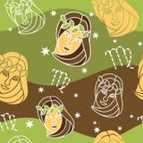 Virgo - zodiaka bezszwowy wzór Obraz Stock