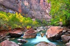 Virign River Zion National Park Stock Photo