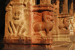 Viripaksha temple, Hampi. Stone carvings Royalty Free Stock Image