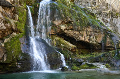 The Virje Waterfall. Bovec, Slovenia Royalty Free Stock Photography