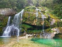 Virje waterfall Royalty Free Stock Images