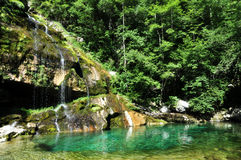Virje waterfall, Slovenia Royalty Free Stock Photos
