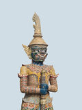 Viroon Hmbag. Is the giant with green alloy black color standing guard at  one of the entrances  of the temple of the Emerald Buddha Stock Photography