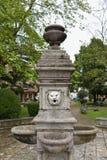 Virpazar, Montenegro. The stone fountain with lions at the main square of Virpazar, Montenegro Royalty Free Stock Photo