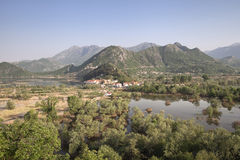 Virpazar village on Skadar lake, Montenegro Royalty Free Stock Images