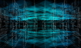 Virtual abstract fantasy cyber blue background Royalty Free Stock Images