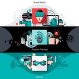 Virtual Augmented Reality Banners Royalty Free Stock Images