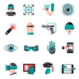 Virtual Augmented Reality Icons Royalty Free Stock Image