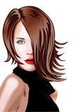 Virtual Beauty - 2. An imaginary beautiful girl, designed completely in photoshop Royalty Free Illustration