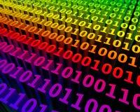 Virtual binary space Royalty Free Stock Image