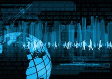 Virtual Business and virtual people Stock Image