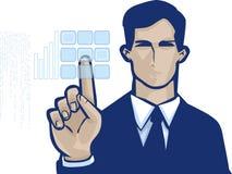 Virtual Button Corp Images libres de droits