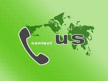 Virtual call Royalty Free Stock Photos