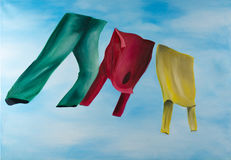Virtual clothesline Stock Photography