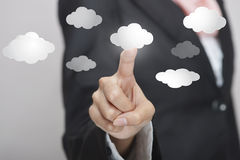 Virtual cloud interface Royalty Free Stock Image