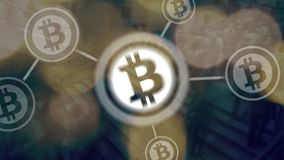 Virtual Coins Bitcoins Background Stock Images