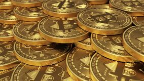 Virtual Coins Bitcoins. Seamless Looping.