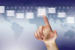 Virtual communication Royalty Free Stock Photo