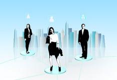 Virtual communication Royalty Free Stock Photos