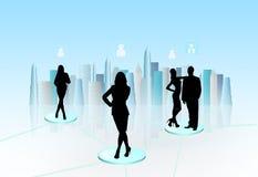 Virtual communication Stock Photos