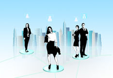 Virtual communication Stock Photography