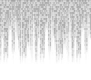 Virtual computer binary code abstract background. Continuous cryptogram code, illustration of program in binary code. Vector illustration Royalty Free Stock Photos