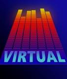 Virtual concept. Royalty Free Stock Photo