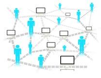 Virtual connection everywhere concept Stock Photo