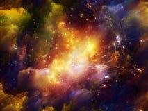 Virtual Crab Nebula Royalty Free Stock Photography