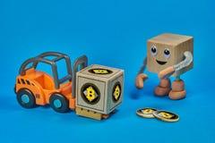 Virtual cryptocurrency Bitcoin sign. Blockchain technology cryptocurrency Bitcoin mining Stock Photos