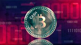 Virtual cryptocurrency Bitcoin sign Stock Images