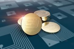 Virtual cryptocurrency Dash coin sign Royalty Free Stock Image