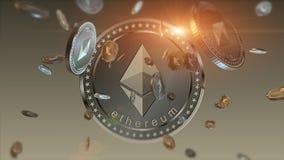 Shiny Ethereum financial background Royalty Free Stock Images