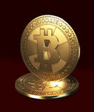 Virtual currency - bitcoin Royalty Free Stock Photography
