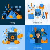 Virtual Currency Flat Style Concept Royalty Free Stock Photos