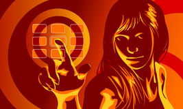 Virtual Danger Girl Royalty Free Stock Images