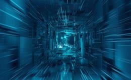 Free Virtual Data Center. Digital Streams And Future Technology. Deep Machine Learning Stock Photo - 178152730