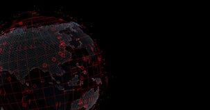 Virtual data Earth stock video footage