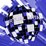 Virtual Data Room Bigdata Computing 3d Illustration. Means Cloud Computing Servers And Database Virtualization vector illustration