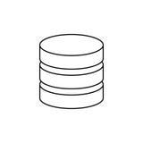Virtual database storage. Icon  illustration graphic design Royalty Free Stock Photography