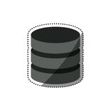 Virtual database storage. Icon  illustration graphic design Royalty Free Stock Images