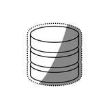 Virtual database storage. Icon  illustration graphic design Stock Photo