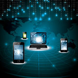 Virtual digital world concept Stock Photo