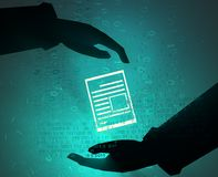Virtual Document Pass Stock Images