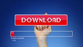 Virtual Download button stock footage