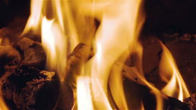 Virtual Fireplace Video stock footage
