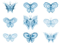 Virtual Fractal Butterflies Royalty Free Stock Photo
