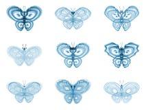 Virtual Fractal Butterflies Stock Photography